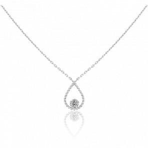 Collier Palline, diamant FSI et or blanc 18k