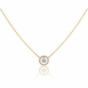 Collier Entourage, diamant FSI et or jaune 18k
