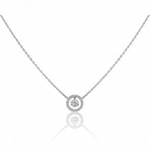 Collier Entourage, diamant FSI et or blanc 18k