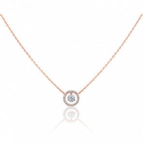 Collier Entourage, diamant FSI et or rose 18k