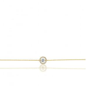 Bracelet Entourage, diamant FSI et or jaune 18k
