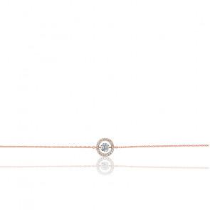 Bracelet Entourage, diamant FSI et or rose 18k