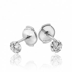 Puces d'oreilles Etincelle, diamant FSI et or blanc 18k