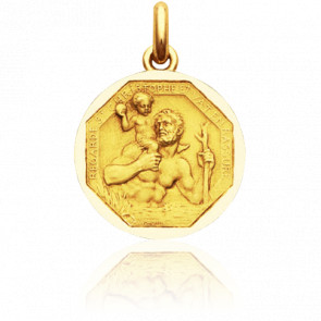 Médaille Saint Christophe Or Jaune 18K