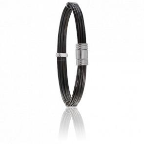 Bracelet Ruaha Poils Eléphant 6 mm Or blanc - Albanu