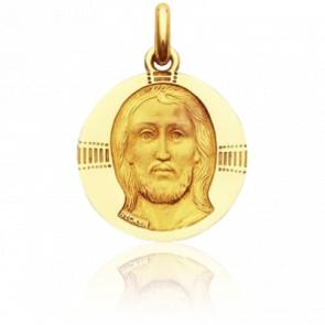 Médaille Christ Byzantin Or Jaune 18K