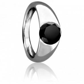 Bague Tentation Argent & Diamant Noir 1 carat