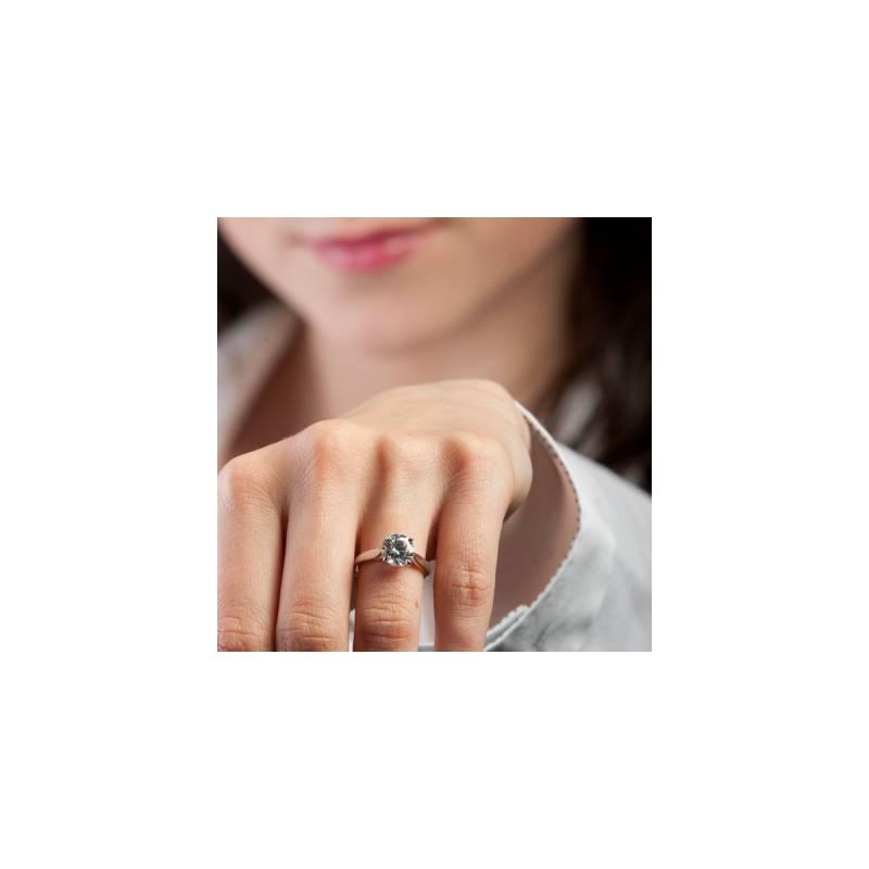 Préférence Bague solitaire diamant 1ct or blanc 18K - Ocarat EJ03