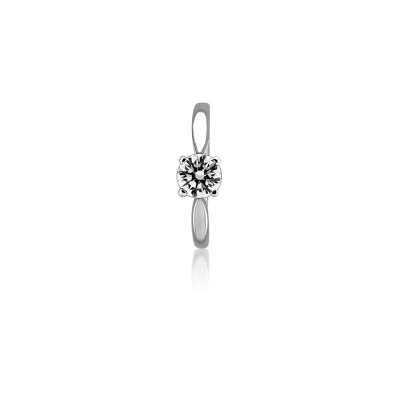 bague solitaire diamant 1ct or blanc 18k ocarat. Black Bedroom Furniture Sets. Home Design Ideas