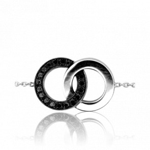 Bracelet Infinity Black & White