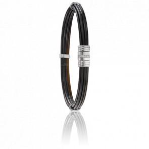 Bracelet 608 Poils Éléphant, Diamants & Or Blanc 18K