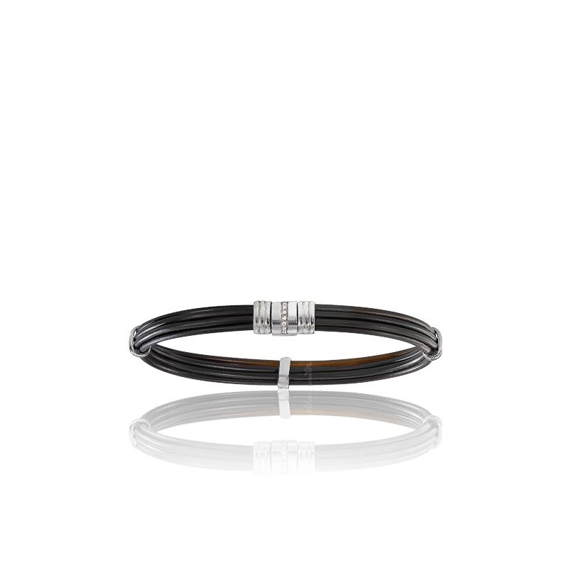 bracelet 608 poils l phant diamants or blanc 18k albanu. Black Bedroom Furniture Sets. Home Design Ideas