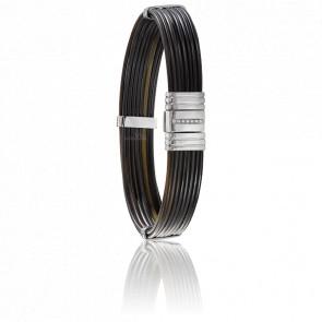 Bracelet 696 Poils Éléphant, Diamants & Or Blanc 18K