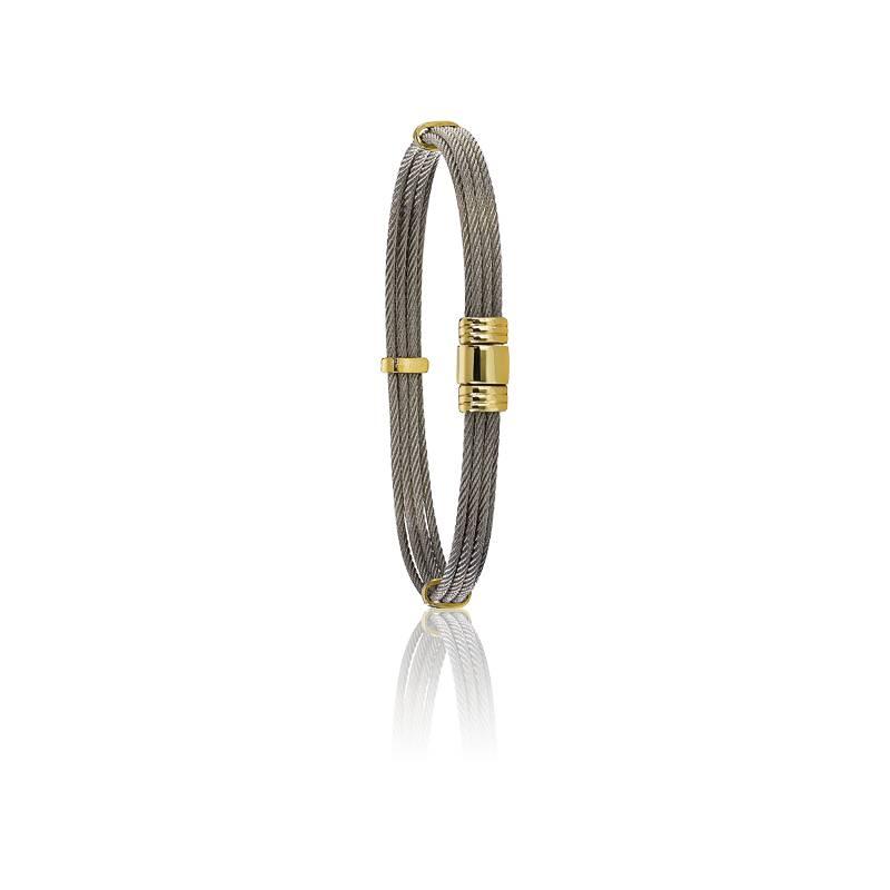 Bracelet 608 Câble & Or Jaune 18K