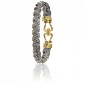 Bracelet 730 Cambuse Câbles Acier & Or Jaune 18K