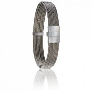 Bracelet 604 Câbles Droits & Acier