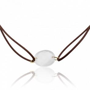Bracelet Cordon Pierre de Lune Ovale
