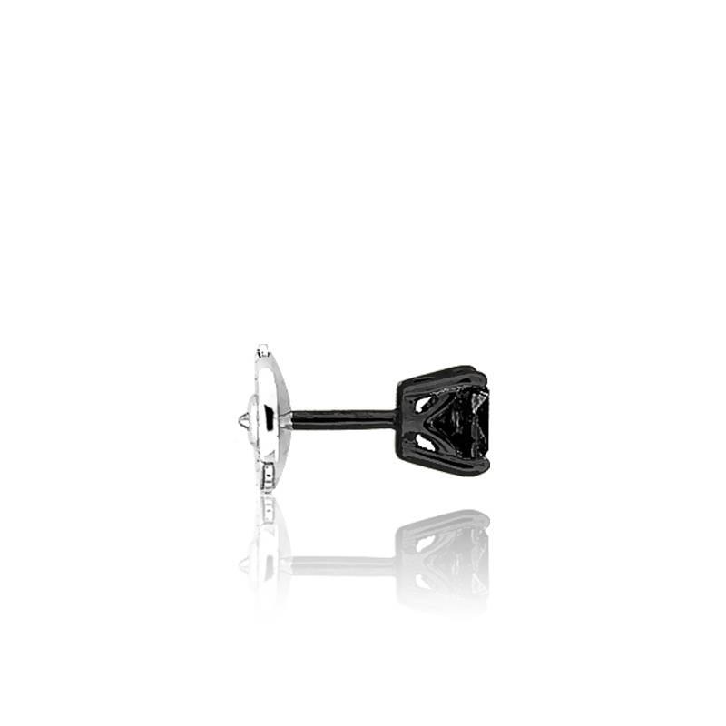 Boucle d 39 oreille pour homme en or noir et diamant noir - Boucle d oreille homme diamant noir ...