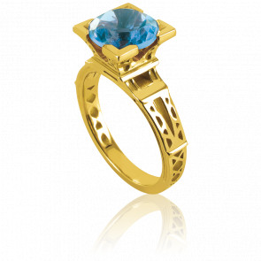 Bague French Kiss Or Jaune et Topaze