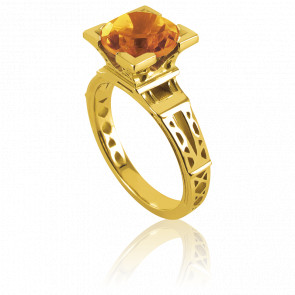 Bague French Kiss Or Jaune et Citrine