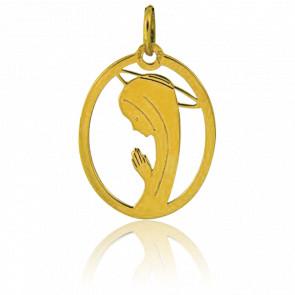 Médaille Vierge en Prière Ajourée Ovale - Augis