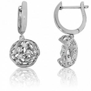 Boucles d'Oreilles Toile d'Or et de Diamants