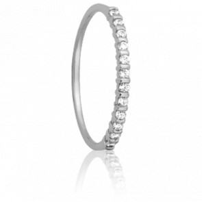 Alliance Inspiration Or Blanc 18K et diamants 0,12ct GP1