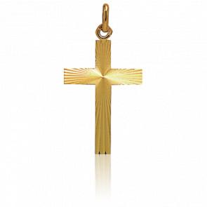 Croix Lapidée 22 x 15 mm Or Jaune 18K
