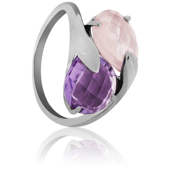 bague diamant rose violet