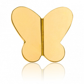 Pendentif Lovely Butterfly Or Jaune