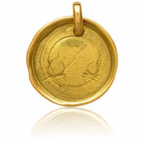 Médaille Cachet de Cire Or Jaune 18K - Tournaire