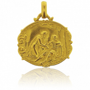 Médaille Bon Samaritain Or Jaune 18K