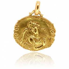 Médaille Ange Gabriel Ovale Or Jaune 18K
