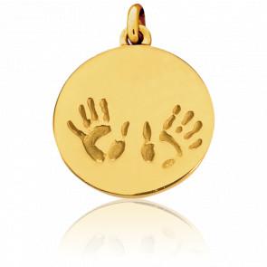 Médaille Empreintes Petit Modèle Or Jaune 18K - Tournaire
