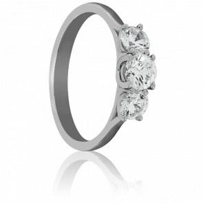 Bague Trilogie Hébrides, Diamants & Or Blanc 18K