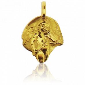 Médaille Ange au Violon Or Jaune 18K