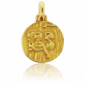 Médaille Petites Filles Ronde Or Jaune 18K - Tournaire