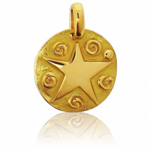 Médaille Etoile Or Jaune 18K