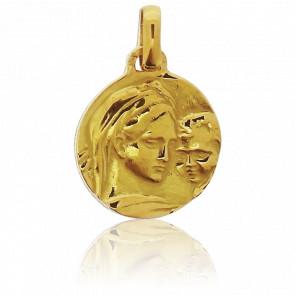 Médaille Vierge à l'Enfant Or Jaune 18K