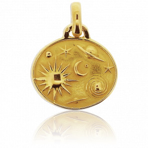 Médaille Astres Or Jaune 18K - Tournaire