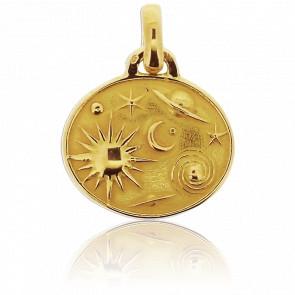 Médaille Astres Or Jaune 18K