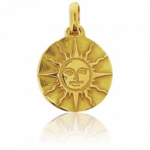 Médaille du Soleil Or Jaune 18K