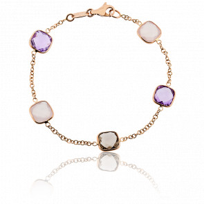 Bracelet Aria Améthystes et Quartz