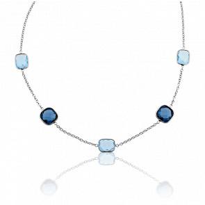 Collier Aria Camaïeu de Topazes Bleues