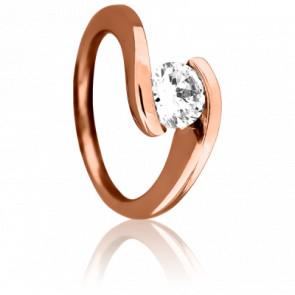 Bague Apesanteur Diamantée Rosée