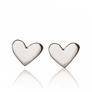 Boucles d'Oreilles Petits Coeurs Argent