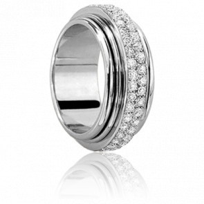 Bague Hydra Pavage Blanche - Ponce
