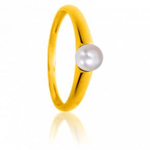 Bague Perle d'Amour Simplicité en or jaune