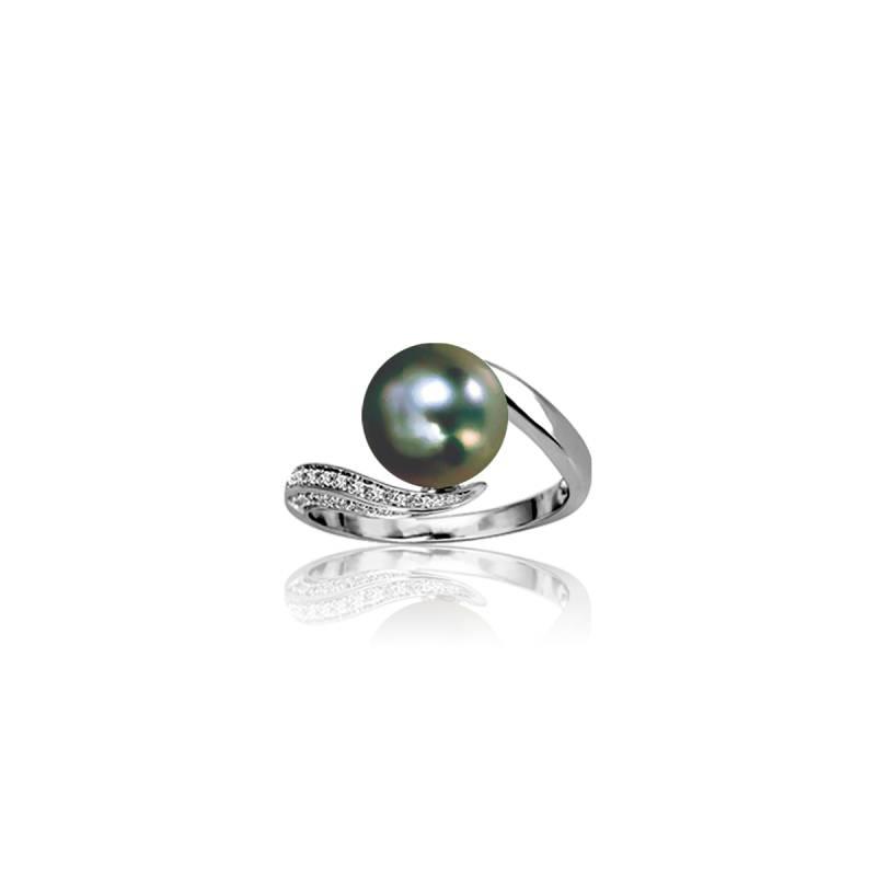 bague ecart perl tahiti diamants emanessence ocarat. Black Bedroom Furniture Sets. Home Design Ideas