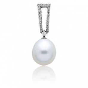 Pendentif Douce Perle Or Blanc